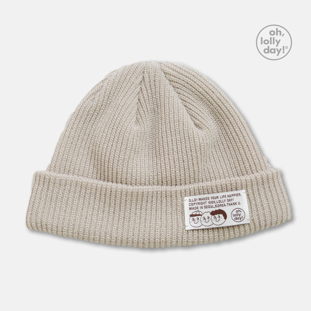 [Apparel] O,LD! beanie_01_oat meal