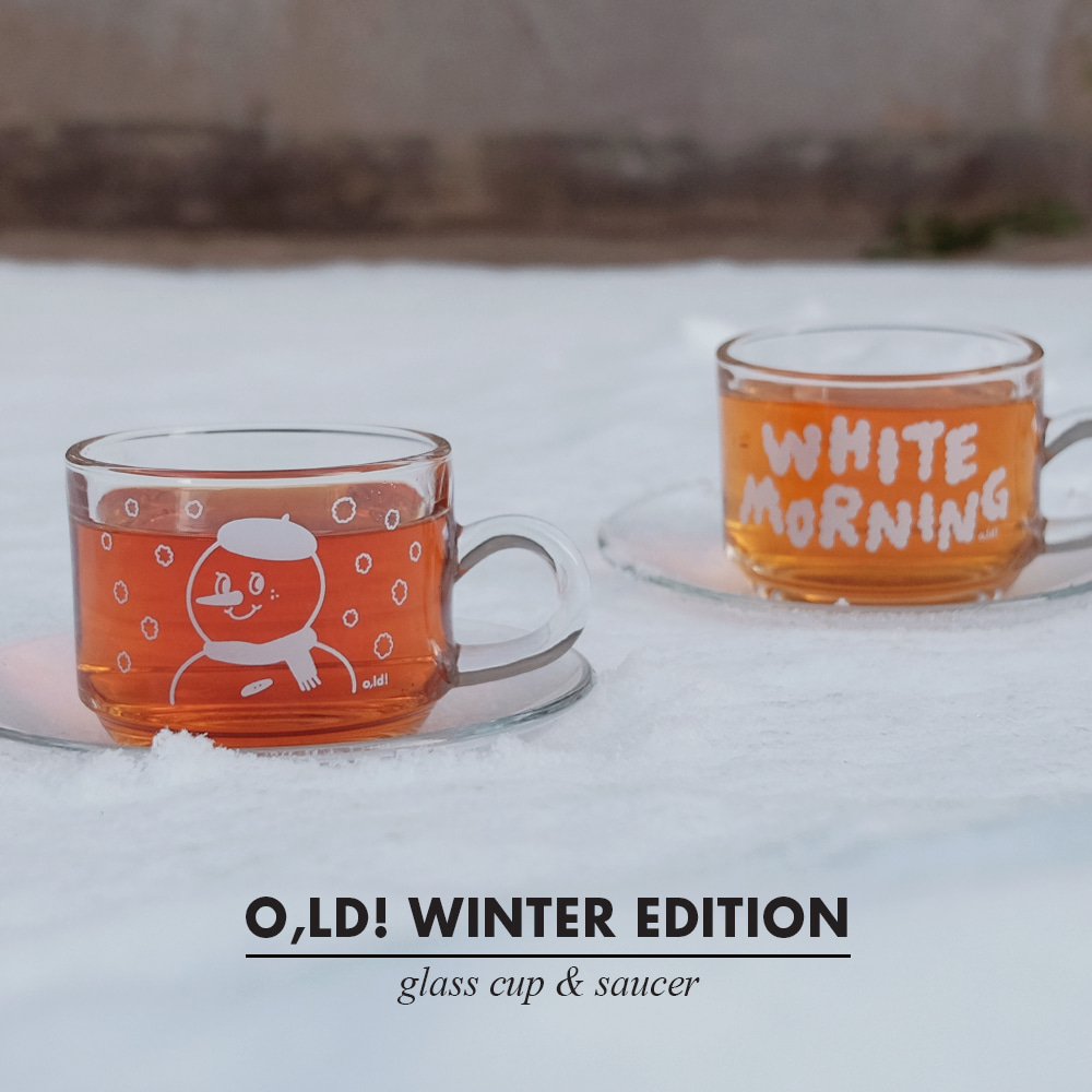 [Cup] Winter edition glass cup&soucer set