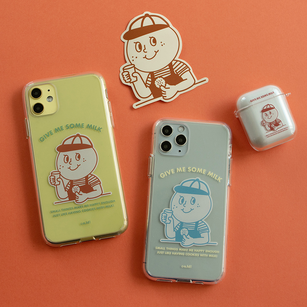 [Phone case] Milk