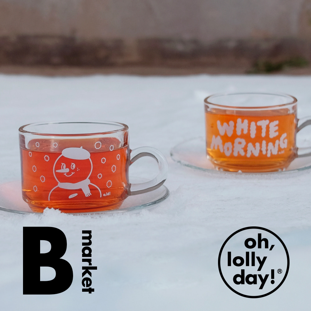 [B market] Winter edition glass cup&soucer