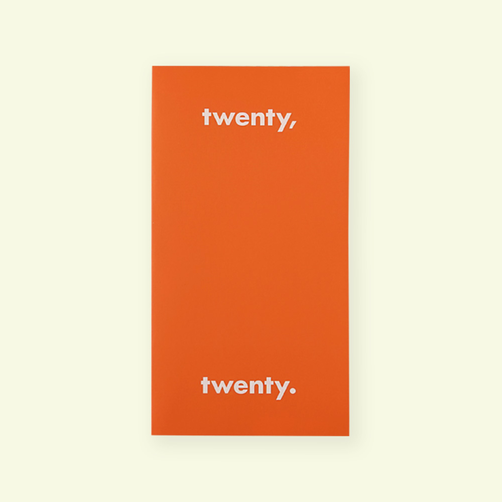 [Diary] Twenty,twenty._2020_mini_red orange