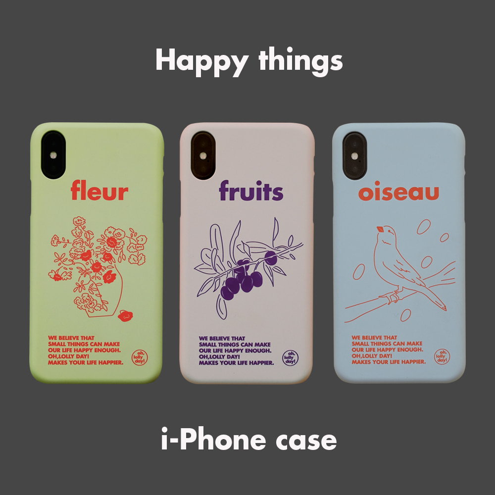 [Phone case] Happy things_Hard
