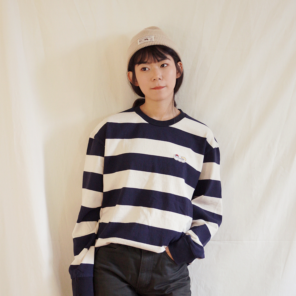 [Apparel] O,LD! long sleeves_stripe navy