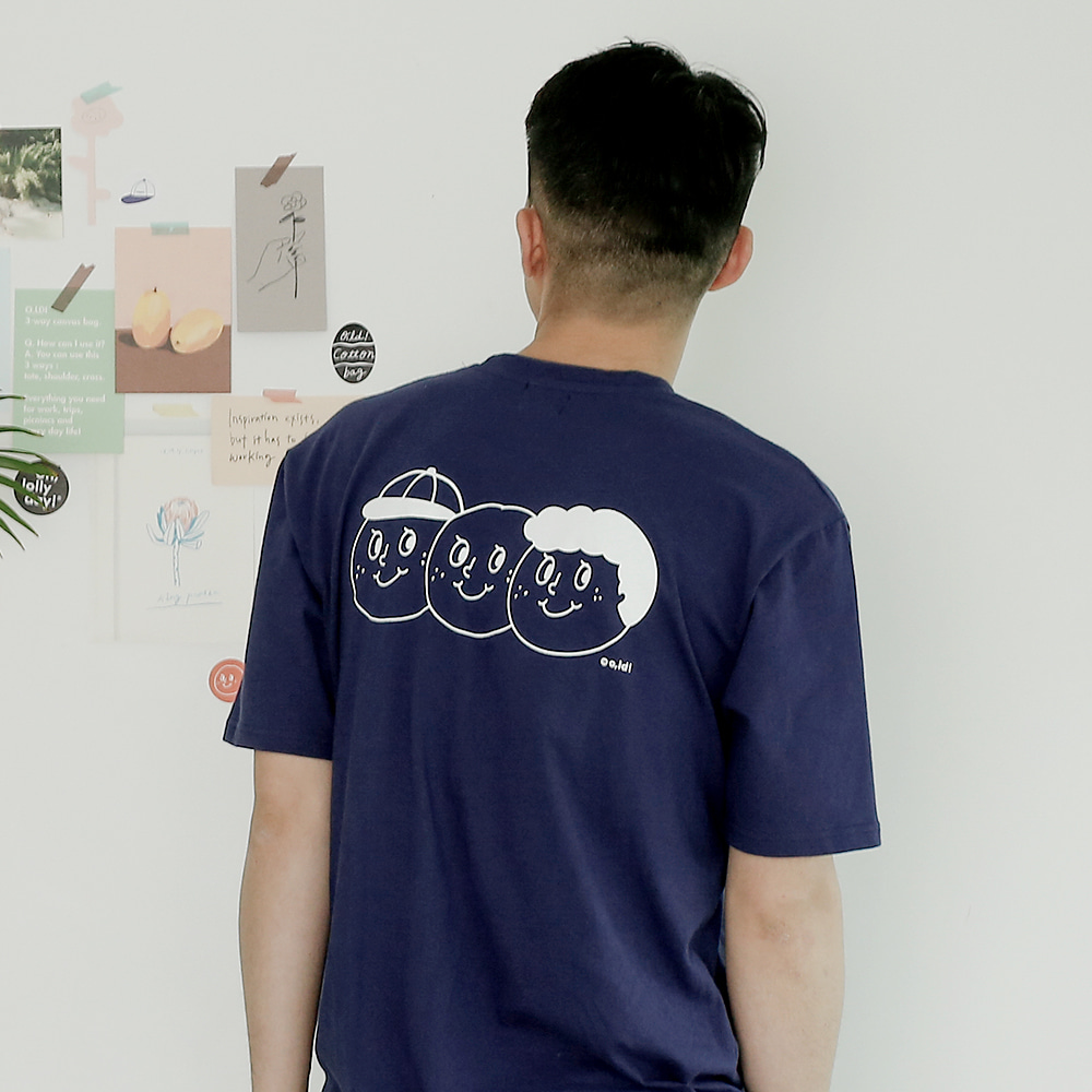 [Apparel] O,LD! 3 brothers T _ Navy