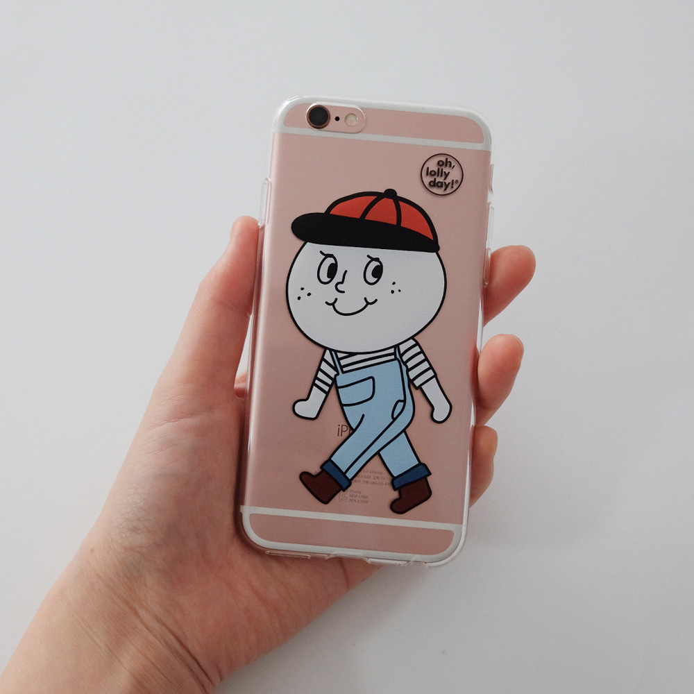 [Phone case] Overalls Mascot_Jelly