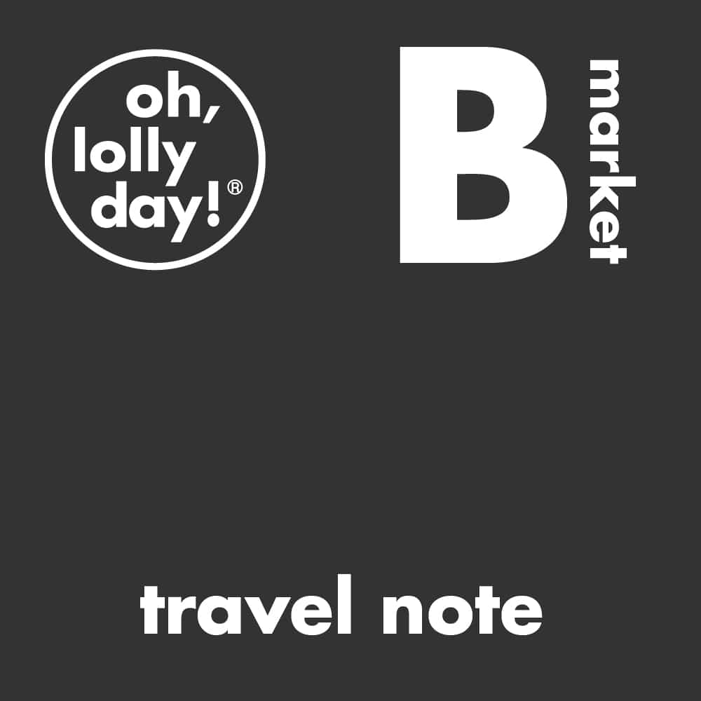 B 마켓 _ travel note