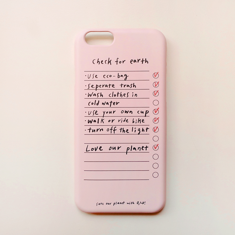 [Phone case] Save the earth _ check list
