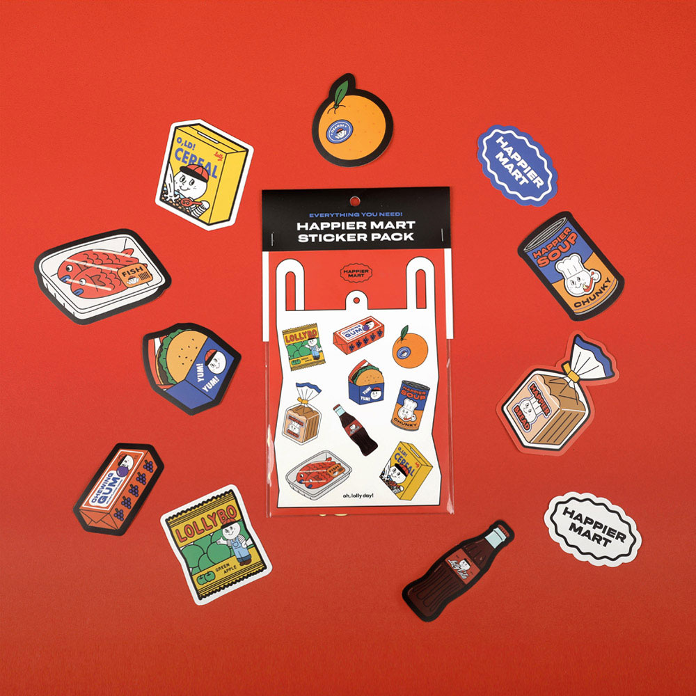 HAPPIER MART sticker pack_food series